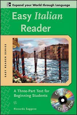 Easy Italian Reader: A Three-Part Text for Beginning Students [With CDROM] by Ri