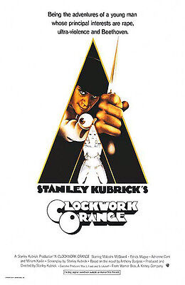 A Clockwork Orange (1971) movie poster reproduction single-sided rolled