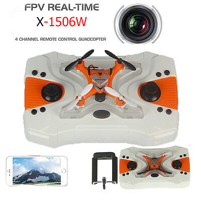NEW X-1506W Drone 2.4G 4CH 6-Axis RC Gyro Quadcopter With WIFI HD Camera LOT