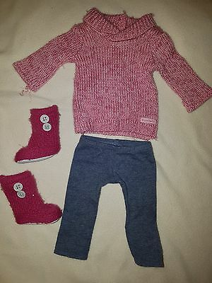 American Girl Cozy Sweater Outfit Tunic Sweater Leggings Knit Boots