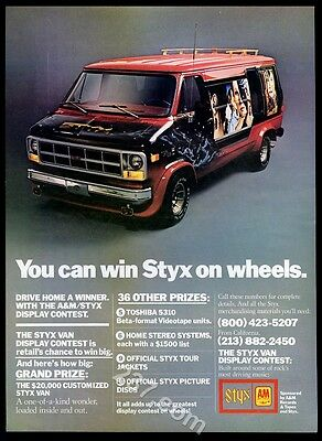 1979 Styx GMC Van photo A&M Records contest music trade print ad