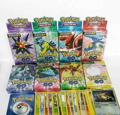 New 25 PCS Assorted Pokémon Go Cards Steam Siege Trading English Cards (2017)