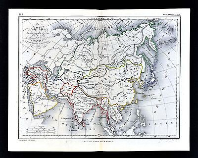 1865 Meissas & Michelot Map Asia Chinese Empire China Japan India Tibet Siberia