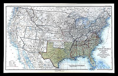 Civil War Map - June 1864 United States Military Departments Confederate Borders