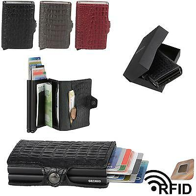 SECRID Nile Leather Twin Wallet Cardprotector RFID Mens Wallet Cardholder NEW