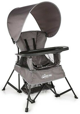 Baby Delight Go With Me Portable Travel Kids Chair Gray w/ Carry Bag BD5030 NEW