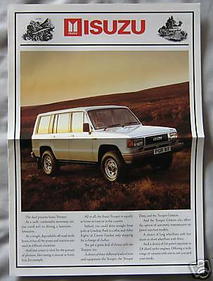 Isuzu Trooper Fold Out Brochure