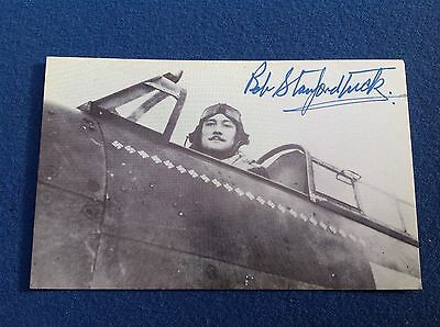 Original Signed Autograph Stanford Tuck Raf Fighter Ace Battle Of Britain Ww2