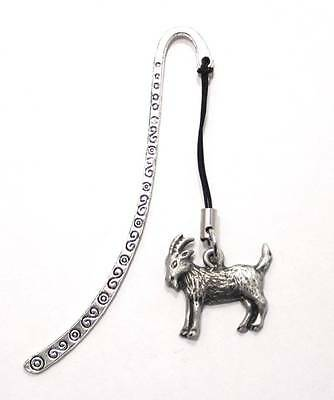 Goat Bookmark, Fine English Pewter, Handmade, Gift Boxed (hin)
