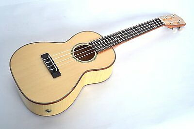 Clearwater Concert Ukulele Solid Top Flame Grain Effect Body Electro