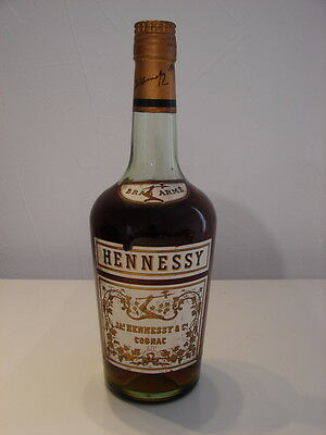 Bouteille Cognac Hennessy Bras Arme Annee 60 / 70