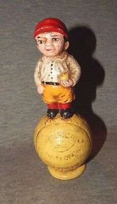 AMERICAN & NATIONAL LEAGUE BALL BASEBALL PLAYER w Red Sox CAST IRON BANK Boston?