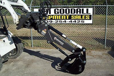 """Backhoe For Skid Steer,Dig 6',Hydraulic Swing 72"""" Bradco 460S,w/Thumb Attachment"""
