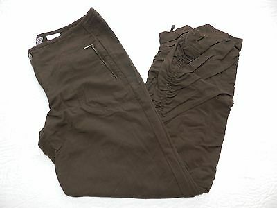 WOMENS brown nylon trail convertible PANTS = COLUMBIA titanium = SIZE 4 = km19