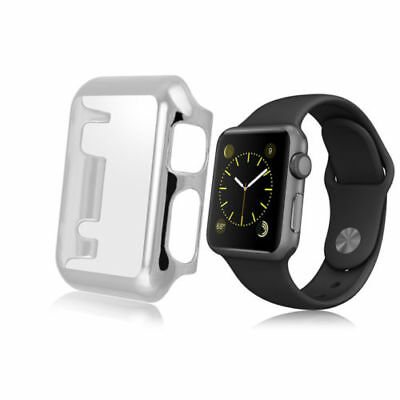 Silver Clear Apple Watch 42mm Hard & Slim Protective Case with Screen Protect