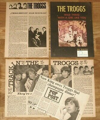 THE TROGGS clippings 1960s photos vintage magazine articles Wild Thing AD