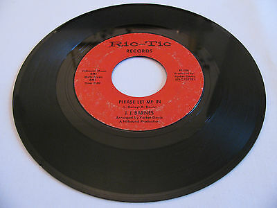 J. J. Barnes - Please Let Me In / I Think I Found A Love - Ric-Tic