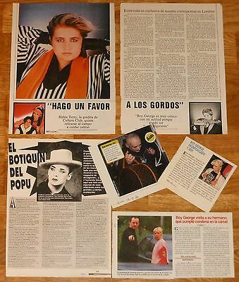 BOY GEORGE CULTURE CLUB Spain clippings 1980s/90s magazine articles Helen Terry
