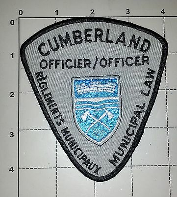 Cumberland Municipal Bylaw Officer Police Dept Obsolete Patch