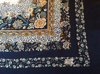 VINTAGE LIBERTY FLORAL SILK SCARF.  VGC.  27 x 27 INCHES.  BEAUTIFUL!