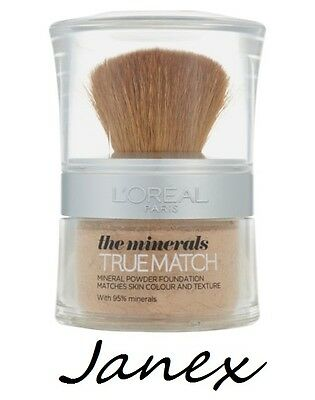 LOREAL THE MINERALS TRUE MATCH Mineral Powder D1/W1 Golden Ivory