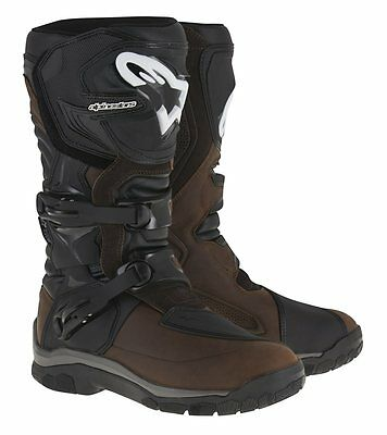 Alpinestars Corozal Adventure Drystar Motorbike Bike Boots Oiled Leather Brown