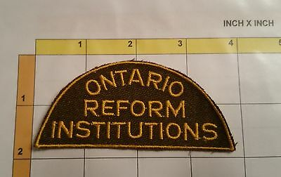 Canada ON Ontario Reform Institutions Justice Dept Officer Obsolete Patch