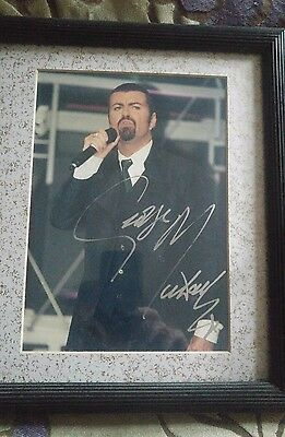 George Michael framed authentic original signed photo MTV Awards Europe 1996