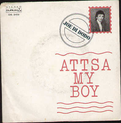 JOE DI DODO attsa my boy / instrum. -1981 italo disco
