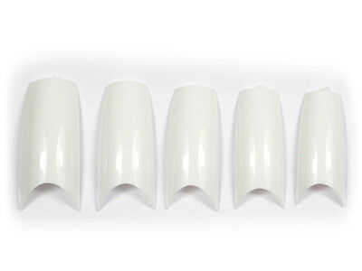 """100 FRENCH TIPS """"EXTREM SMILE"""" WEISS, mit BOX SMILE#02 3-100"""