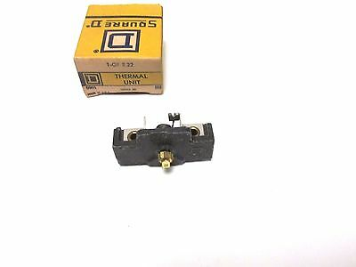 NIB.. Square D Overload Relay Thermal Unit Cat# 1-GF 2.22 ... VM-52F