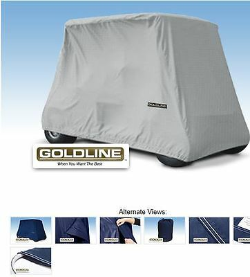 Goldline Premium Xtra Long 2 Person Passenger Golf Car Cart Storage Cover Silver