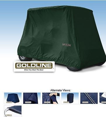 Goldline Premium X-Long 4 Person Passenger Golf  Cart Storage Cover, Hunt Green