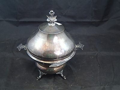 Victorian Wilcox Silver Quadruple Plate Butter Dish Chilled Knife Rest I084