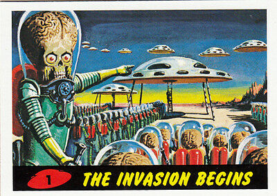 2012 Topps Mars Attacks Heritage Base Card #1 The Invasion Begins