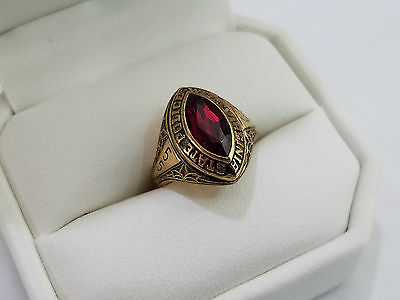 1955 West Virginia State Police - 10k Gold Class Ring Nice Stone - 4428