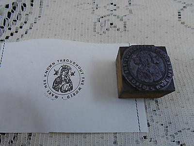 Make Her Known Throughout World Mother Mary Printers Block Letterpress Graphic