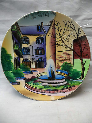 """Two Sisters Courtyard  New Orleans Colorful Collectable Decorative Plate 8"""""""