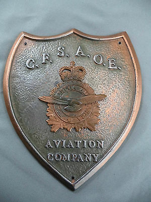 Plaque CFSAOE Canadian Forces School Aerospace & Ordnance Engineering Aviation