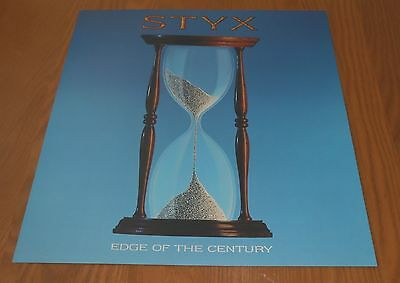 Styx Edge of the Century Promo 1990 Poster Hour Glass 2-Sided Flat Square