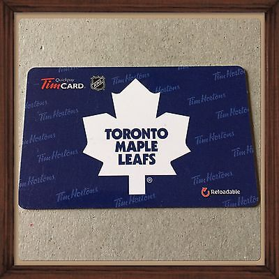 🇨🇦 TORONTO MAPLE LEAFS Collectible Tim Hortons Gift Card #5 🇨🇦