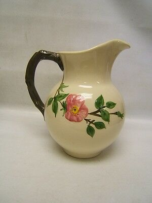 """Franciscan Desert Rose 64 oz Pitcher 9 3/8"""" Tall Very Good Condition"""