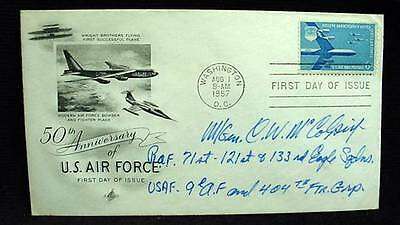 FDC AIR FORCE Signed WWII Ace Pilot USAF 404th Fighter Group Maj Gen C. McColpin