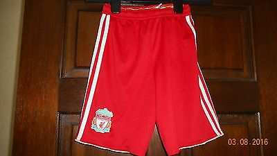 Boys Football Shorts - Liverpool - Age 7/8 - Home 2010/12 - Adidas - Red/white