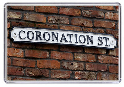 Coronation Street road sign Fridge Magnet 01
