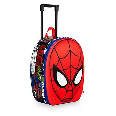 Disney Store AMAZIN SPIDER MAN Rolling Suitcase Luggage Child Carry On Bag SOUND