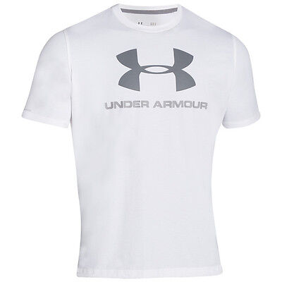 Under Armour Charged Cotton Sportstyle Logo T-Shirt White Blue Grey 1257615-100