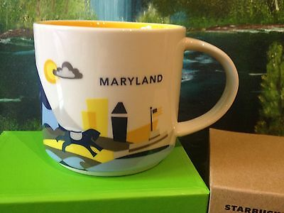 Starbucks Maryland City State You Are Here collection Cup YAH NWT Mug 14oz