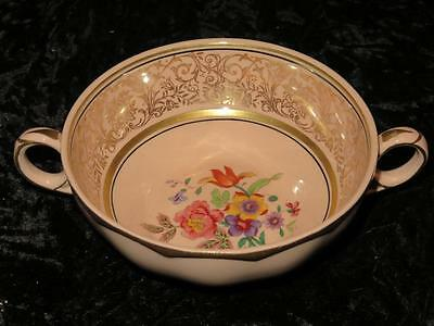 VINTAGE REPLACEMENT CHINA 2-Handled Soup Bowl W.H. Grindley ROSITA Peach Petal