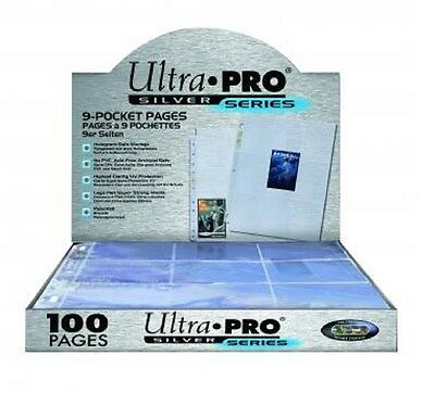 1 Case of 1000 Ultra Pro Silver 9 Pocket Sports or Gaming Card Storage Pages